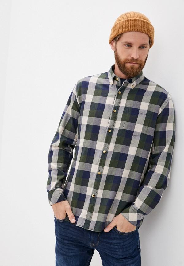 мужская рубашка с длинным рукавом pepe jeans london, хаки
