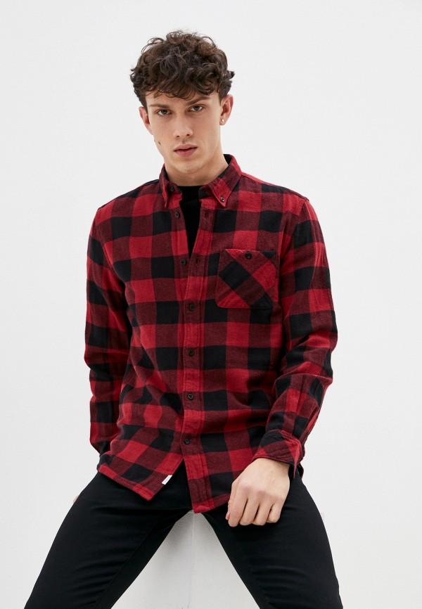 мужская рубашка с длинным рукавом pepe jeans london, бордовая