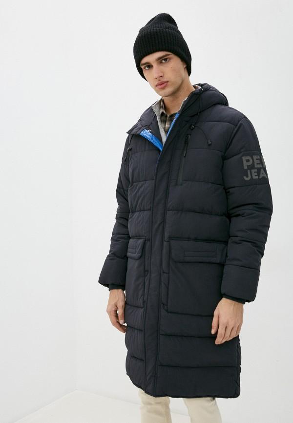 мужская куртка pepe jeans london, черная