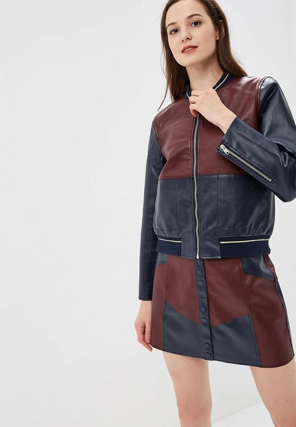 женская куртка pepe jeans london, бордовая