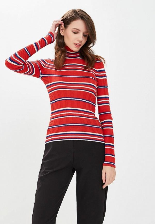 женская водолазка pepe jeans london, красная