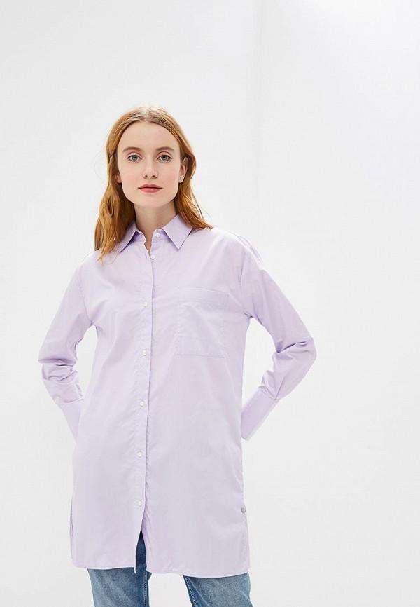 женская туника pepe jeans london, фиолетовая