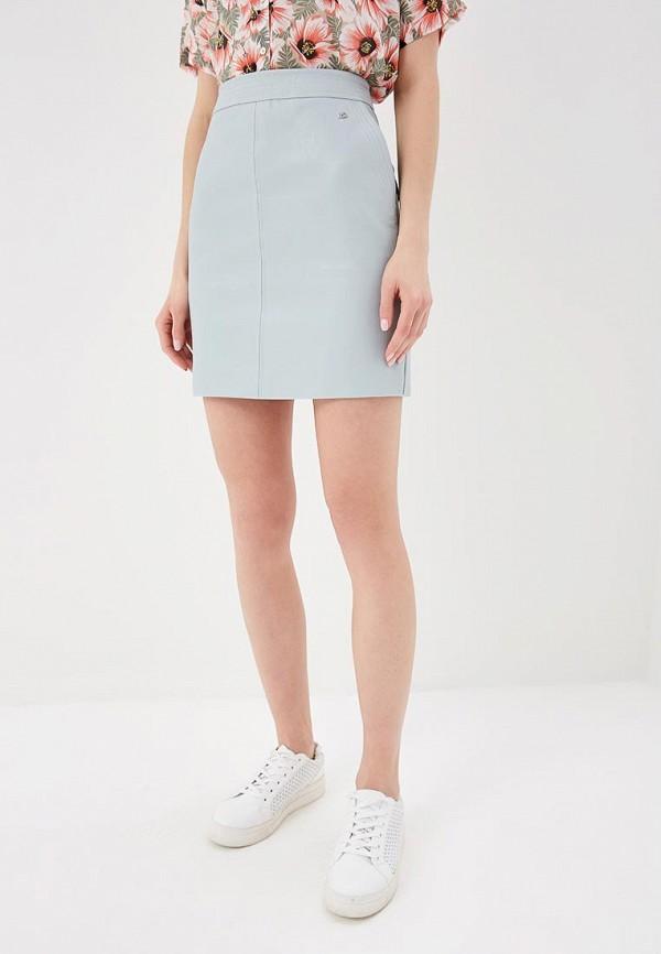 женская юбка pepe jeans london, серая