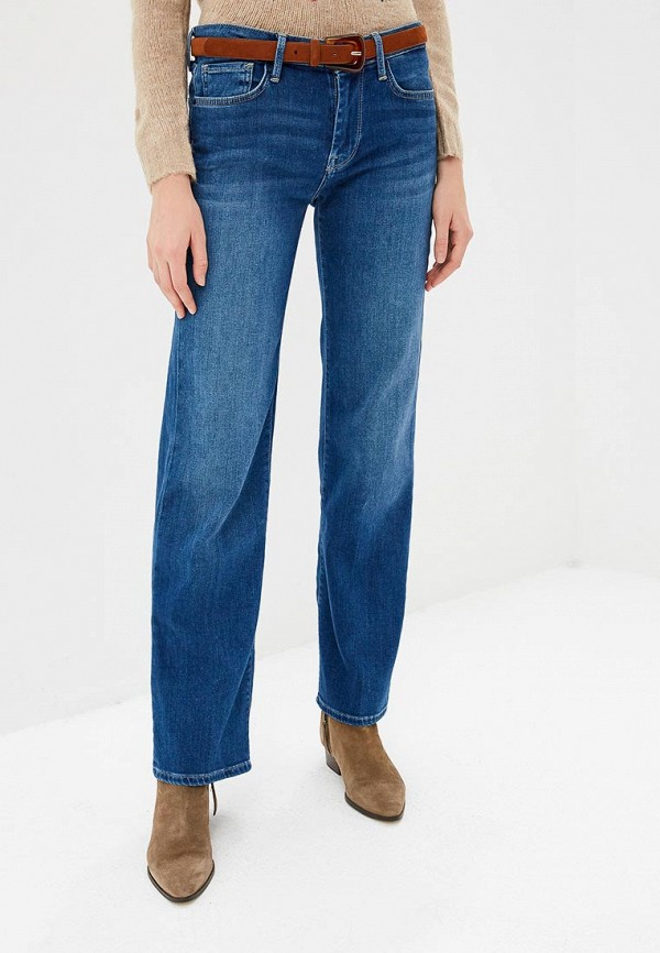 женские джинсы клеш pepe jeans london, синие