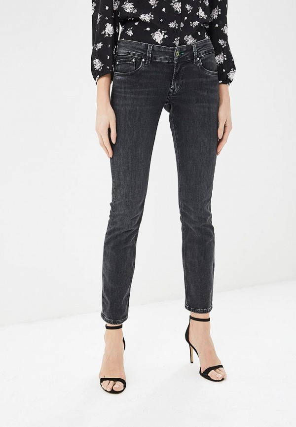 женские прямые джинсы pepe jeans london, черные
