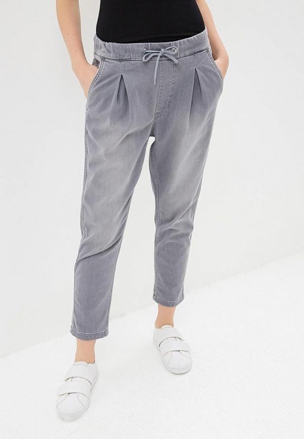 женские повседневные брюки pepe jeans london, серые