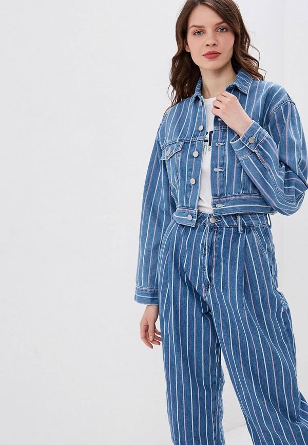 женская джинсовые куртка pepe jeans london, синяя
