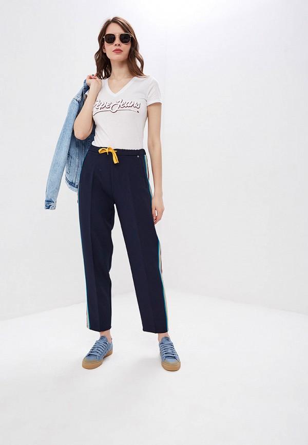 Фото 2 - женскую футболку Pepe Jeans белого цвета