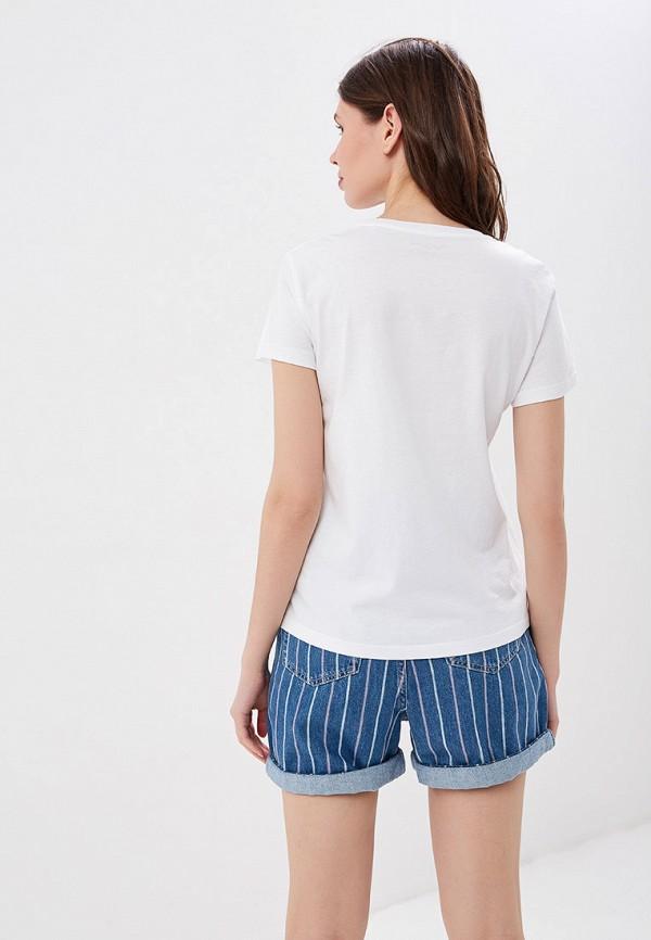 Фото 3 - женскую футболку Pepe Jeans белого цвета