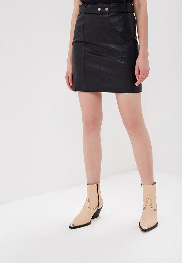 женская юбка pepe jeans london, черная