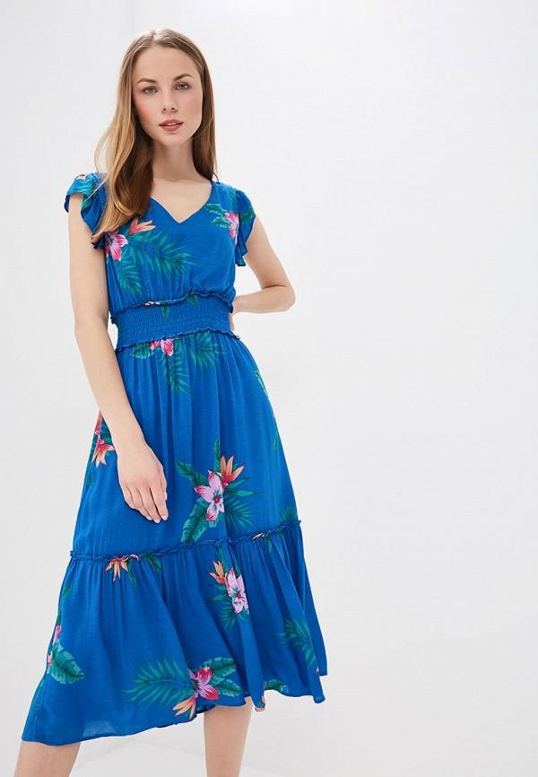 женское повседневные платье pepe jeans london, синее