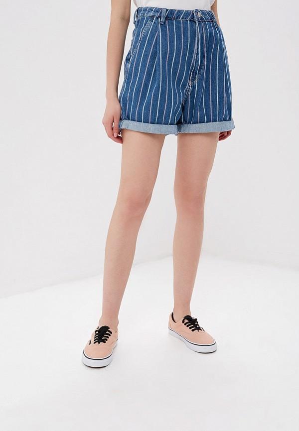 женские джинсовые шорты pepe jeans london, синие