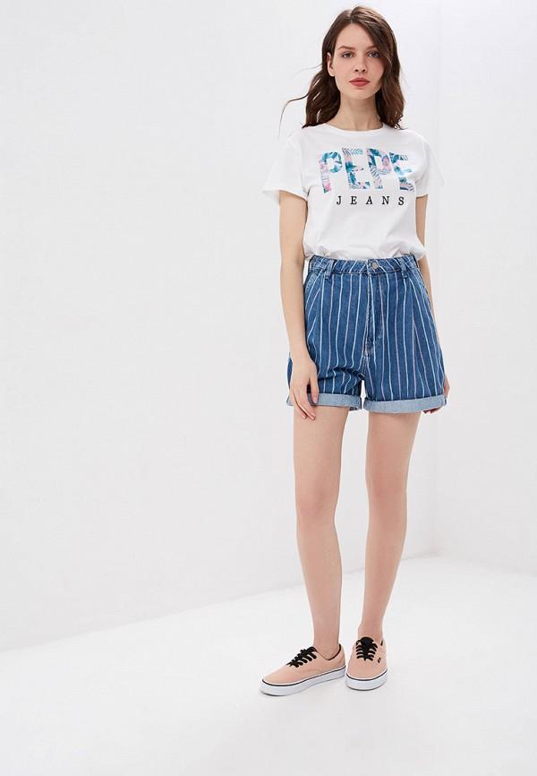 Фото 2 - Шорты джинсовые Pepe Jeans синего цвета