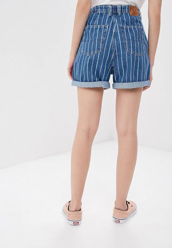 Фото 3 - Шорты джинсовые Pepe Jeans синего цвета
