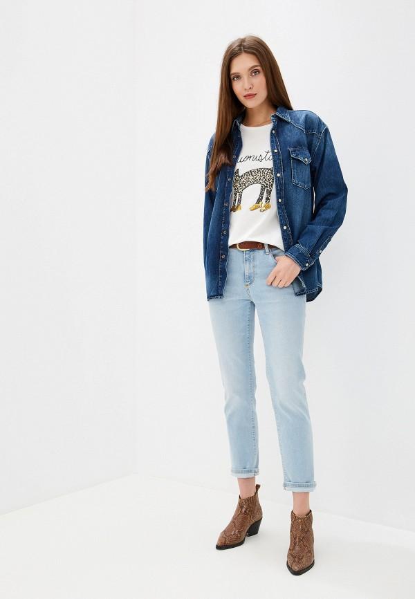 Фото 2 - Рубашку джинсовая Pepe Jeans синего цвета