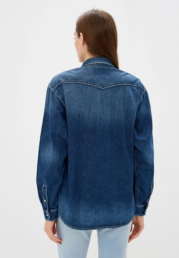 Фото 3 - Рубашку джинсовая Pepe Jeans синего цвета