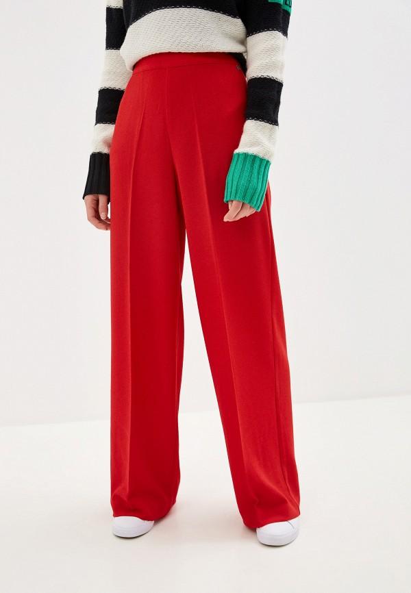 женские повседневные брюки pepe jeans london, красные