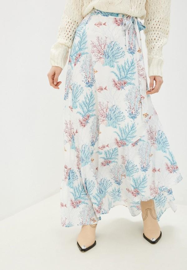 женская юбка-трапеции pepe jeans london, белая