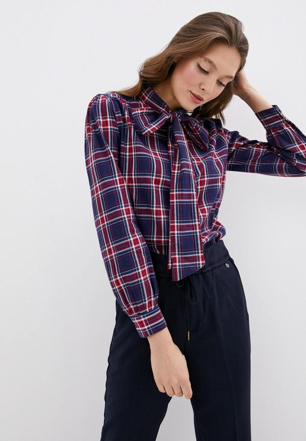 женская блузка с длинным рукавом pepe jeans london, синяя