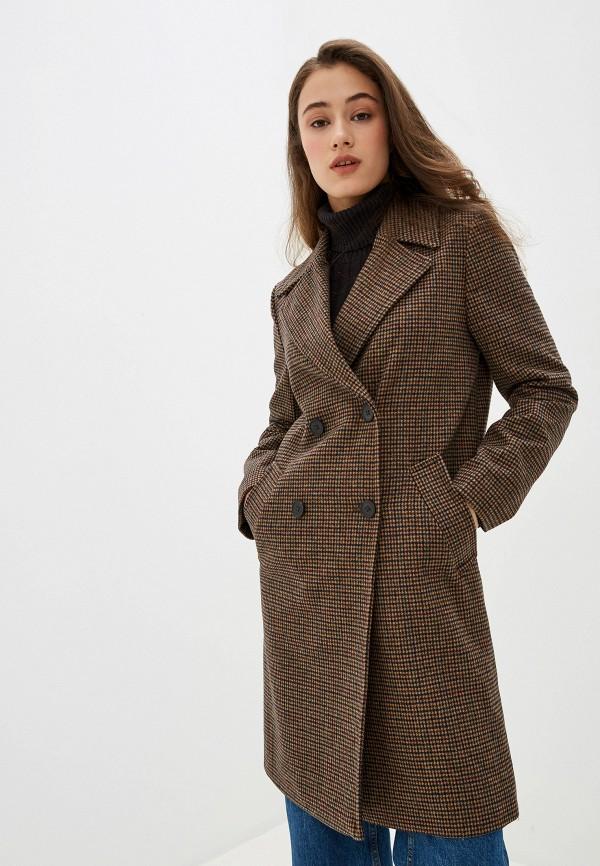 женское пальто pepe jeans london, коричневое