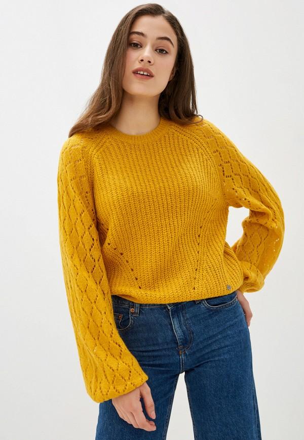 женский джемпер pepe jeans london, желтый
