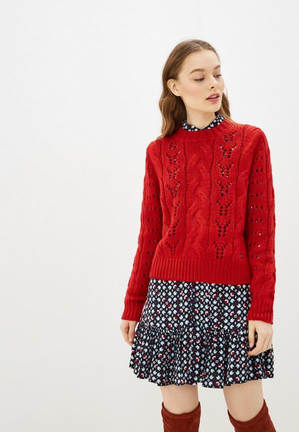 женский джемпер pepe jeans london, красный