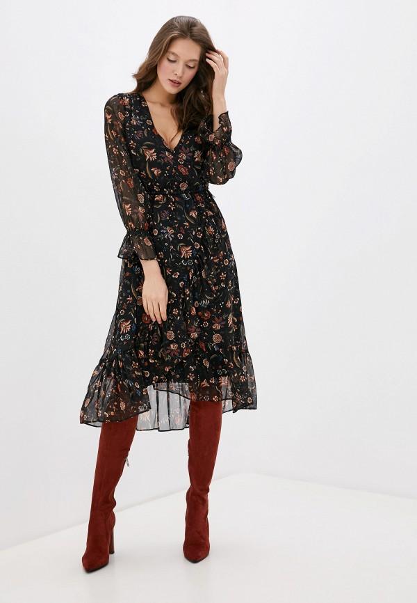 женское платье мини pepe jeans london, черное