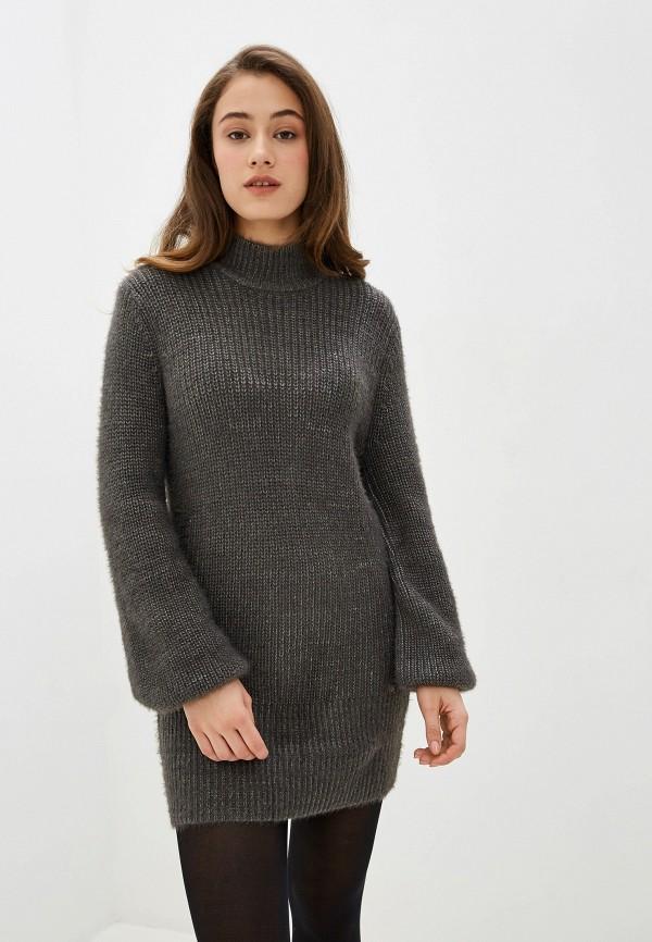 женское платье-свитеры pepe jeans london, серое
