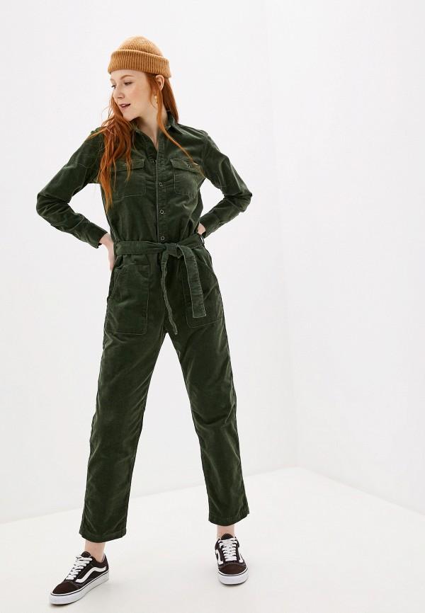 женский комбинезон pepe jeans london, зеленый