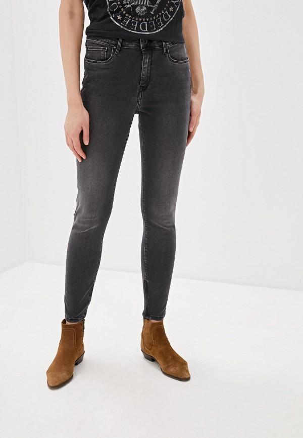 женские джинсы скинни pepe jeans london, черные