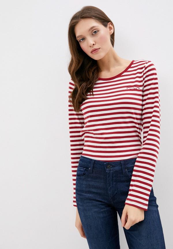 женский лонгслив pepe jeans london, красный