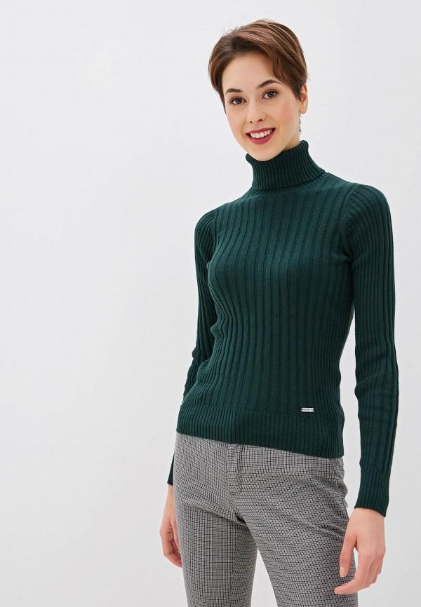 женская водолазка pepe jeans london, зеленая