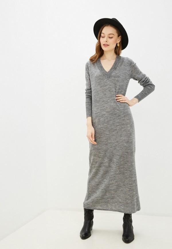 женское платье pepe jeans london, серое