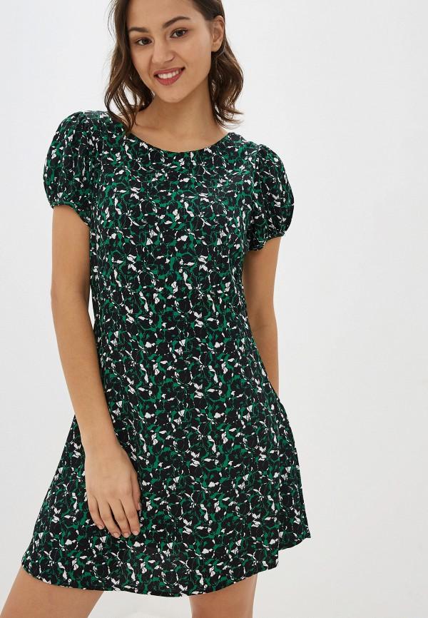 женское повседневные платье pepe jeans london, зеленое