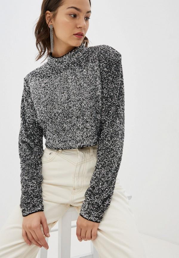 женская блузка pepe jeans london, серебряная