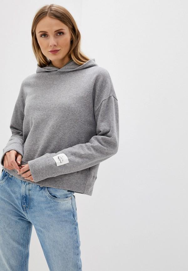 женские худи pepe jeans london, серые