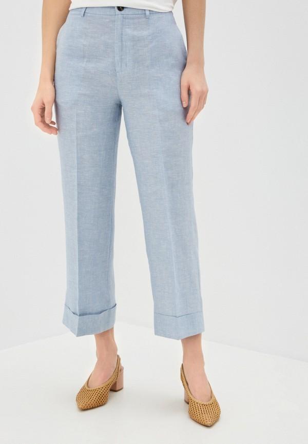 женские повседневные брюки pepe jeans london, голубые