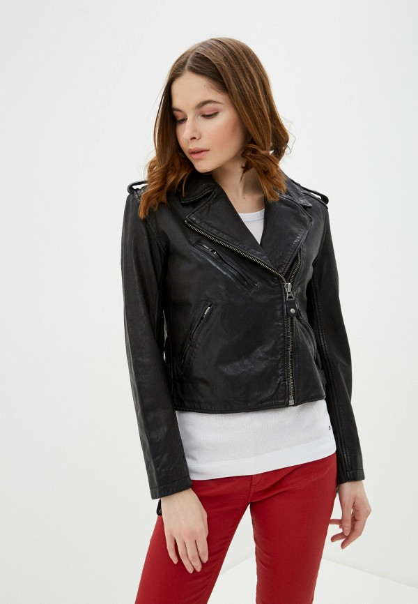 женская куртка pepe jeans london, черная