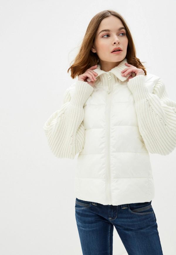 женская куртка pepe jeans london, белая