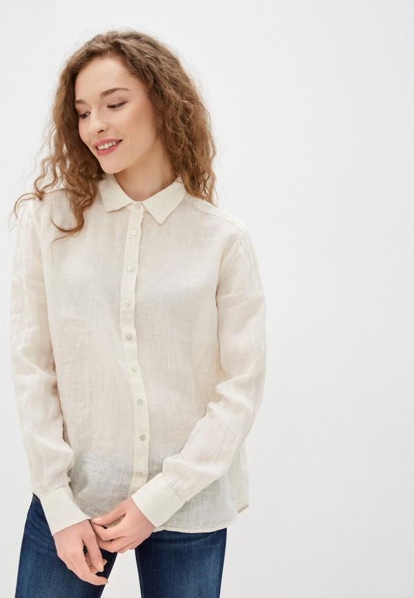 женская рубашка с длинным рукавом pepe jeans london, белая