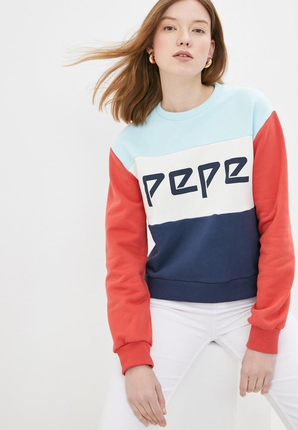 женский свитшот pepe jeans london, разноцветный
