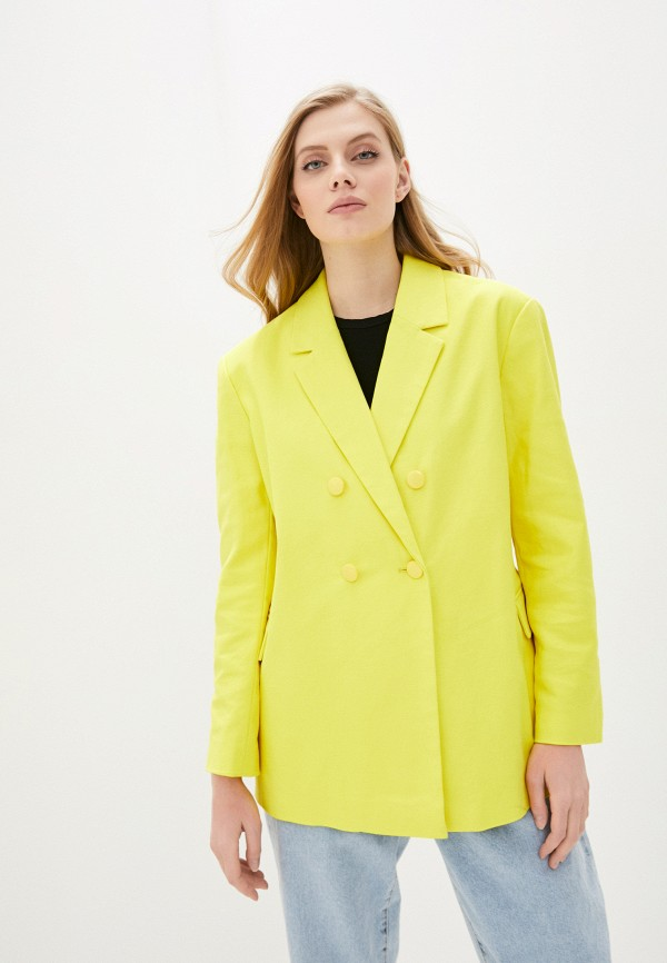 женский пиджак pepe jeans london, желтый