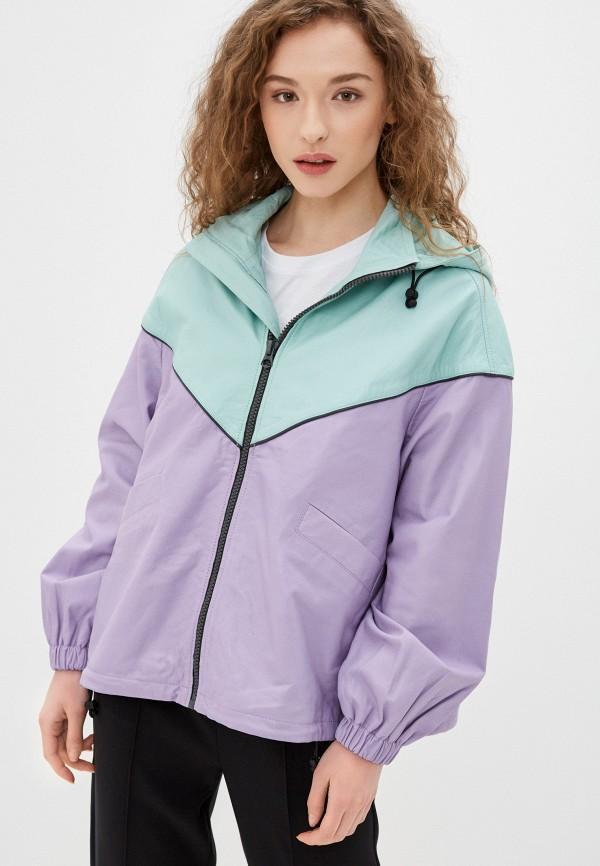 женская кожаные куртка pepe jeans london, разноцветная