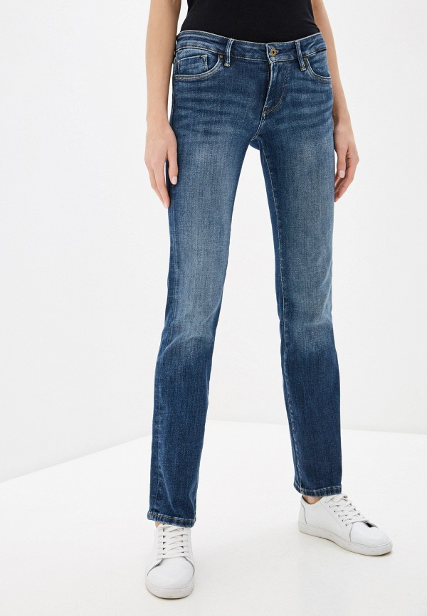 женские прямые джинсы pepe jeans london, синие