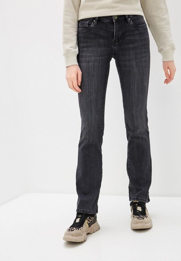 женские джинсы клеш pepe jeans london, серые