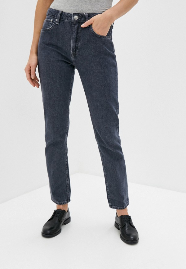 женские прямые джинсы pepe jeans london, серые