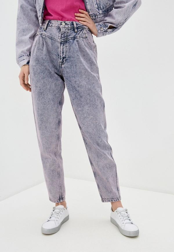 женские джинсы-мом pepe jeans london, серые