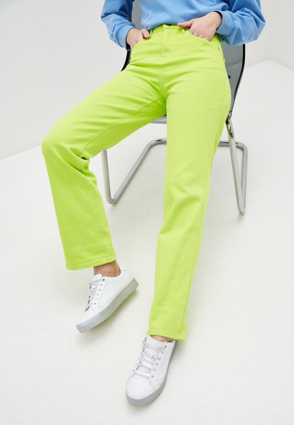 женские повседневные брюки pepe jeans london, зеленые