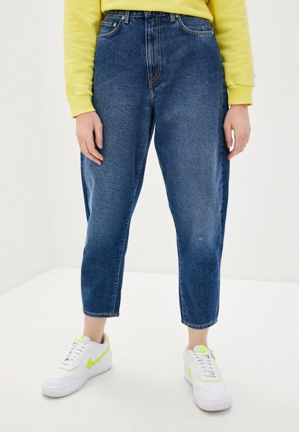 женские джинсы бойфренд pepe jeans london, синие