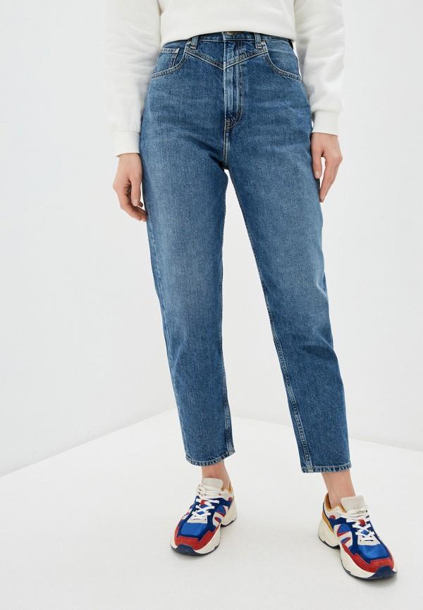 женские джинсы-мом pepe jeans london, синие